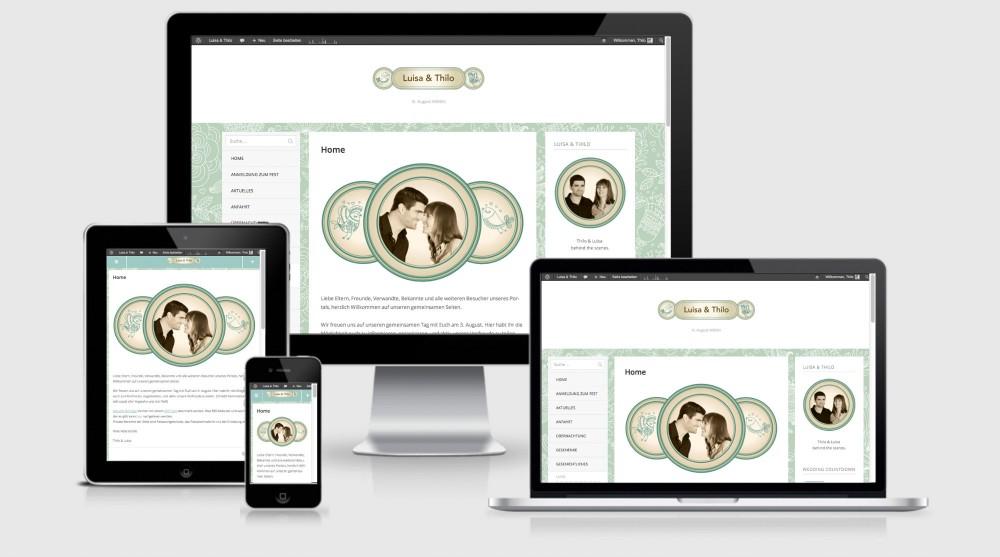 Screenshot Luisa & Thilo Website