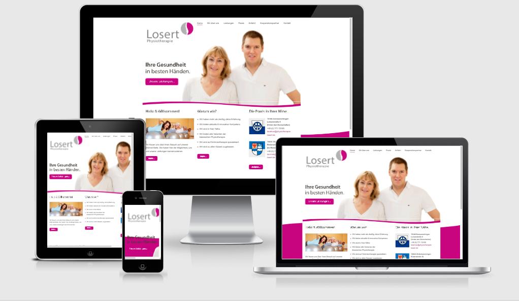 Losert Physiotherapie – Corporate Design, Logo Website Flyer und mehr…