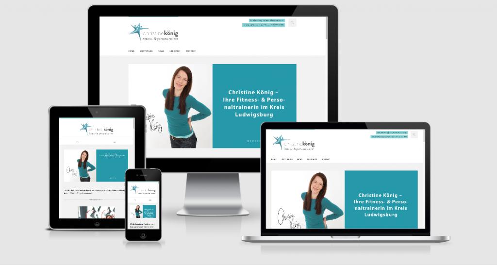 Christine König Personal Trainer Website