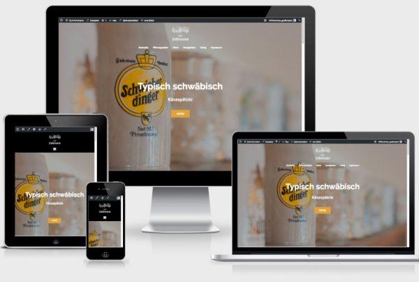 """Website """"Zum Fuhrmann"""" in Schwieberdingen"""